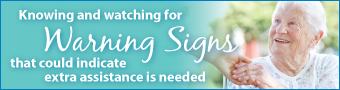 home care warning signs senior home care california